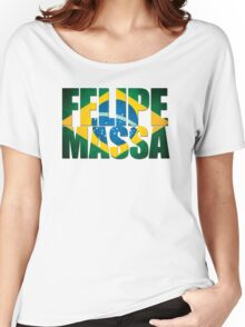 Felipe Massa - Brazilian Flag - Formula 1 Women's Relaxed Fit T-Shirt