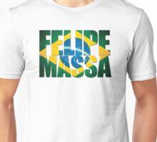 Felipe Massa - Brazilian Flag - Formula 1 Unisex T-Shirt