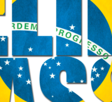 Felipe Massa - Brazilian Flag - Formula 1 Sticker