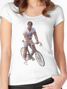 Arnold on a Bike Women's Fitted Scoop T-Shirt