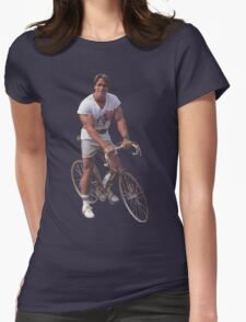 Arnold on a Bike Womens Fitted T-Shirt