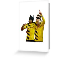 Reus Robin & Aubameyang Batman Greeting Card