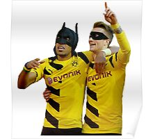 Reus Robin & Aubameyang Batman Poster