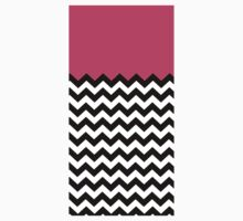 Pinky Black & White Waves Pattern Kids Clothes