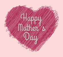 Happy Mother's Day heart Kids Clothes