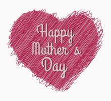 Happy Mother's Day heart Kids Tee