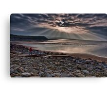Lahinch Beach Sunset County Clare Ireland Canvas Print