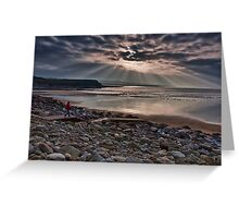 Lahinch Beach Sunset County Clare Ireland Greeting Card