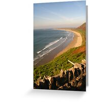 Rhossili Beach on the Gower Peninsula, Swansea Greeting Card