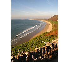 Rhossili Beach on the Gower Peninsula, Swansea Photographic Print