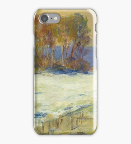 Claude Monet Seine Bennekurt winter (author's copy) iPhone Case/Skin