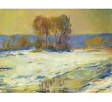 Claude Monet Seine Bennekurt winter (author's copy) Photographic Print