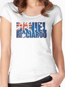 Daniel Ricciardo - Australia Flag - Formula 1 Women's Fitted Scoop T-Shirt
