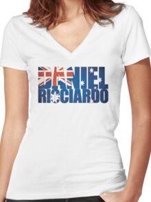 Daniel Ricciardo - Australia Flag - Formula 1 Women's Fitted V-Neck T-Shirt