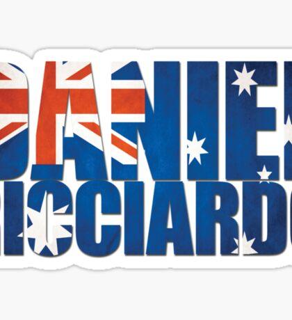 Daniel Ricciardo - Australia Flag - Formula 1 Sticker