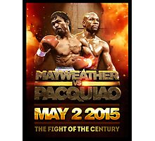 Floyd Mayweather VS Manny Pacquiao May 2nd 2015 shirt, poster and more Photographic Print