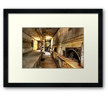 Breaking into the past Framed Print