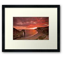 185 Million Year Old Sunset - The Jurassic Coast World Heritage Site Series  Framed Print