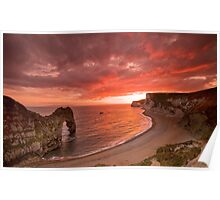 185 Million Year Old Sunset - The Jurassic Coast World Heritage Site Series  Poster