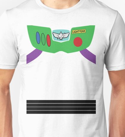 Buzz Lightyear Costume Front Unisex T-Shirt