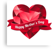 Happy Mother's Day heart pattern Canvas Print