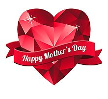 Happy Mother's Day heart pattern Photographic Print