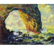 Claude Monet. Ckala in Mannporte (author's copy) Photographic Print