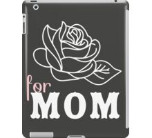 Mom flower Mother's Day iPad Case/Skin