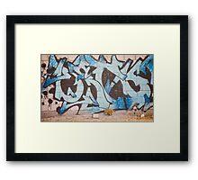 Alphabet Graffiti Framed Print
