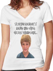 MattyBraps/Tupac Comedy Shirt Women's Fitted V-Neck T-Shirt