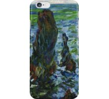 Claude Monet. Sea in Belle-Ile (author's copy) iPhone Case/Skin