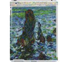 Claude Monet. Sea in Belle-Ile (author's copy) iPad Case/Skin