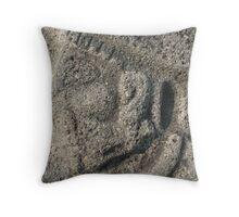 Face on the Temple of the Sun - Xochicalco, Morelos, Mexico Throw Pillow