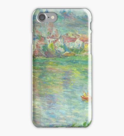 Claude Monet Vétheuil Town (author's copy) iPhone Case/Skin
