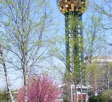 Sunsphere at the World Fair Park Knoxville,Tennessee,  by raindancerwoman