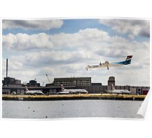 Lux Air London City Airport Poster