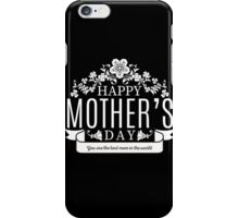 Happy Mother's Day black v iPhone Case/Skin