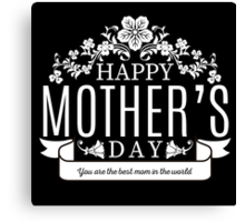 Happy Mother's Day black v Canvas Print