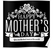 Happy Mother's Day black v Poster