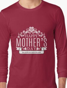 Happy Mother's Day black v Long Sleeve T-Shirt