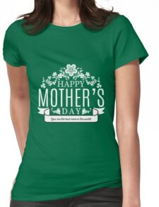 Happy Mother's Day black v Womens Fitted T-Shirt