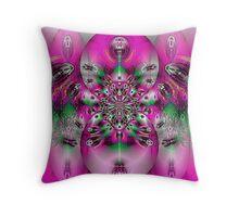 Pink Spidey Throw Pillow