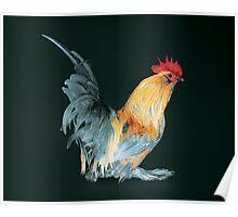 Porcelain Belgian d'Uccle Cock Poster