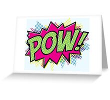 Pow! Cartoon Greeting Card