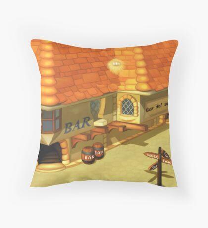 Costa Del Sol Bar Throw Pillow