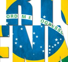 Ayrton Senna - Brazilian Flag - Formula 1 Sticker