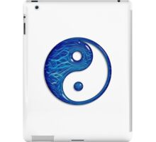 Blue Glass Yin Yang Symbol iPad Case/Skin