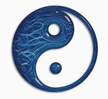 Blue Glass Yin Yang Symbol Kids Clothes