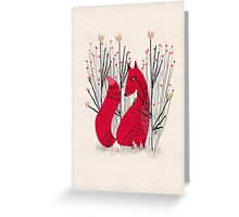 Fox in scrub Greeting Card