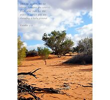 Standing on Holy Ground...  Photographic Print